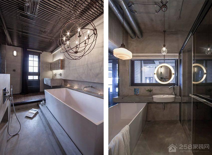 板桥工业风黑色水泥个性宅装修效果图
