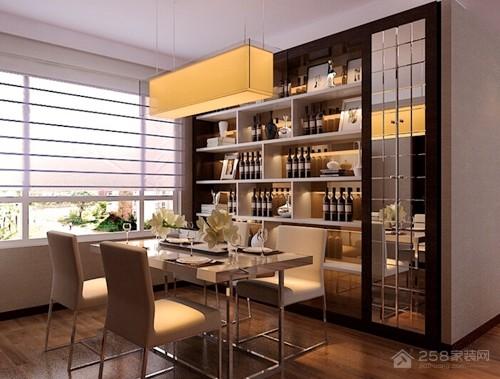 """餐厅装修效果图:背景墙搭配 """"延展""""有限的餐厅空间"""