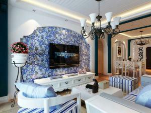 阳光水岸地中海风格二居家装效果图