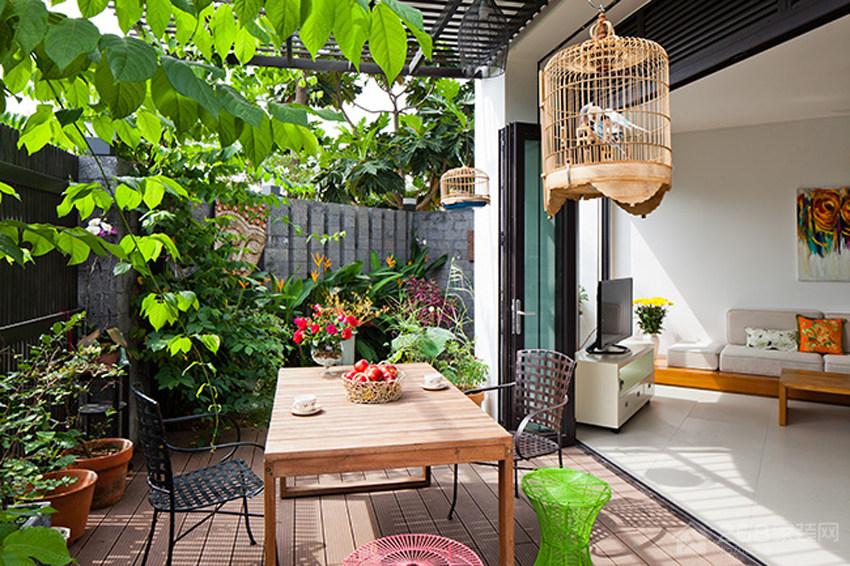 越南自然风收纳住宅装修效果图