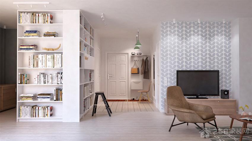 俄罗斯开放式低彩度公寓装修效果图