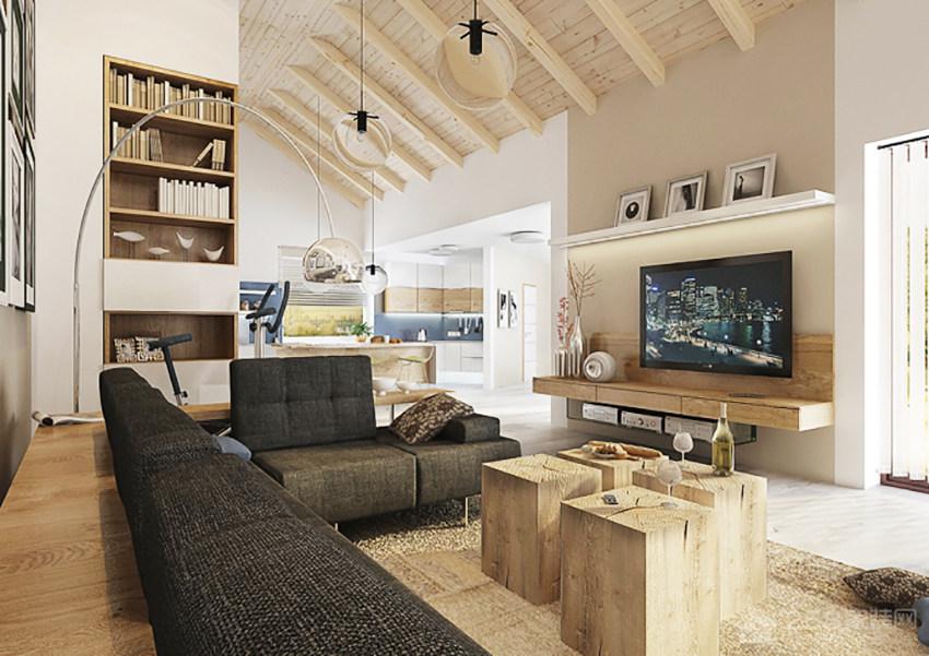 现代客厅简约电视墙墙图片