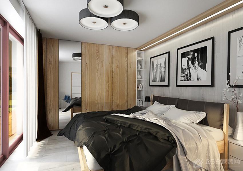 现代卧室双人床图片