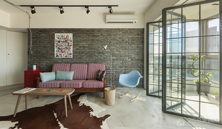 客厅现代布艺沙发图片