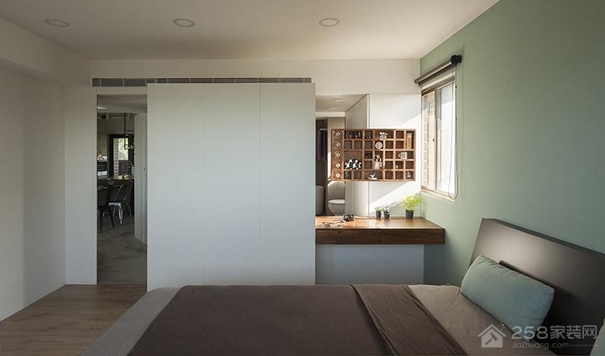 卧室双人实木床图片