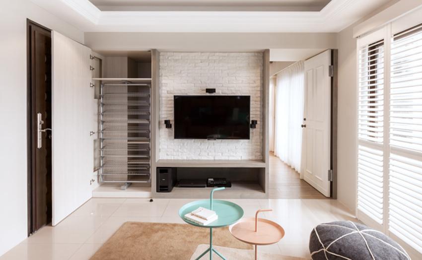 板桥26 坪缤纷美式公寓装修效果图