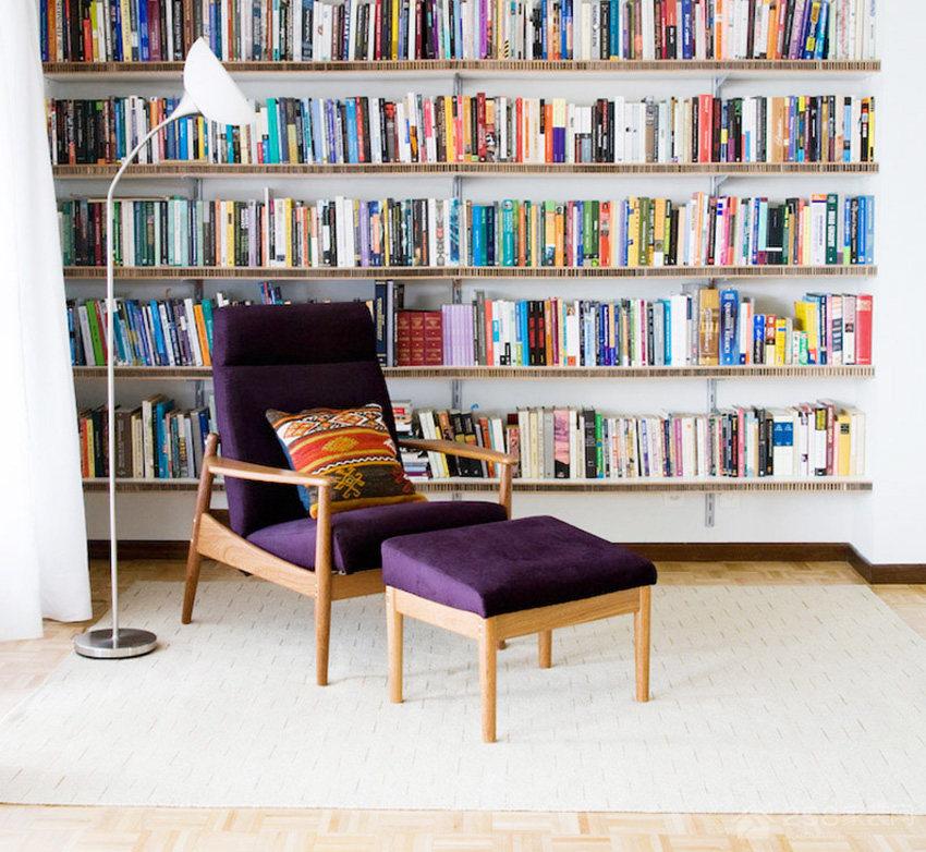 客厅实木书柜效果图