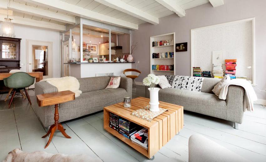 荷兰半开放式厨房公寓装修效果图