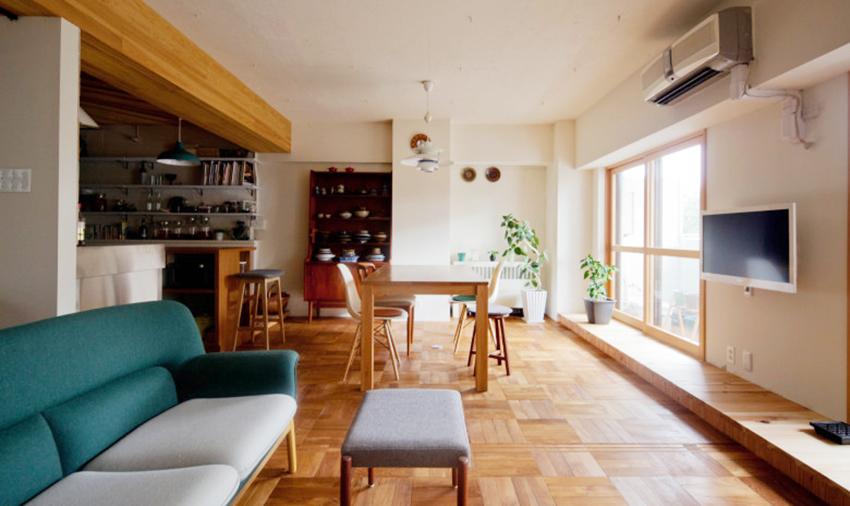 东京 20 坪原木风公寓装修效果图