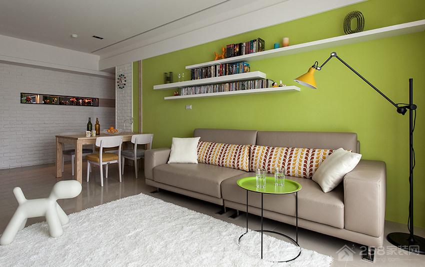 现代时尚客厅棕色布艺沙发图片