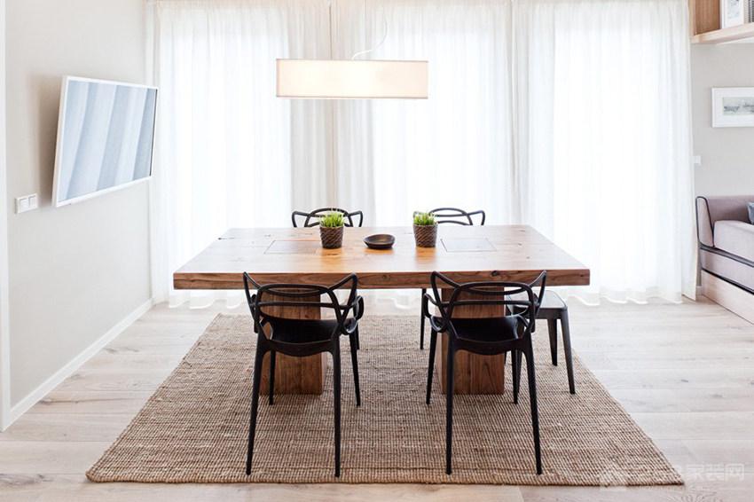 时尚流行餐厅白色布艺窗帘效果图