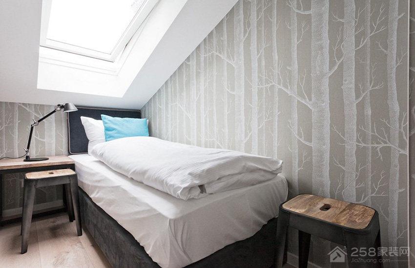 时尚简约卧室墙纸效果图