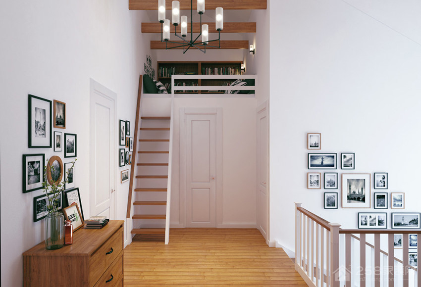 俄罗斯开放式亲子公寓装修效果图