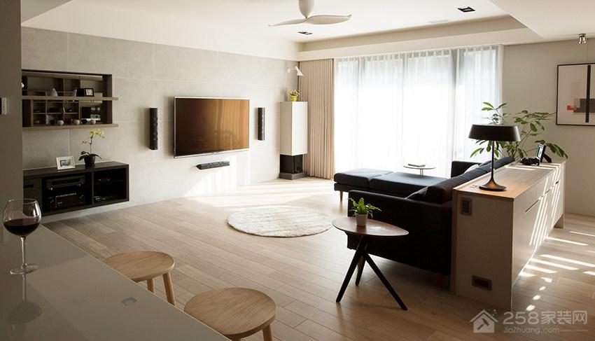 新竹51坪简约风开放式公寓装修效果图