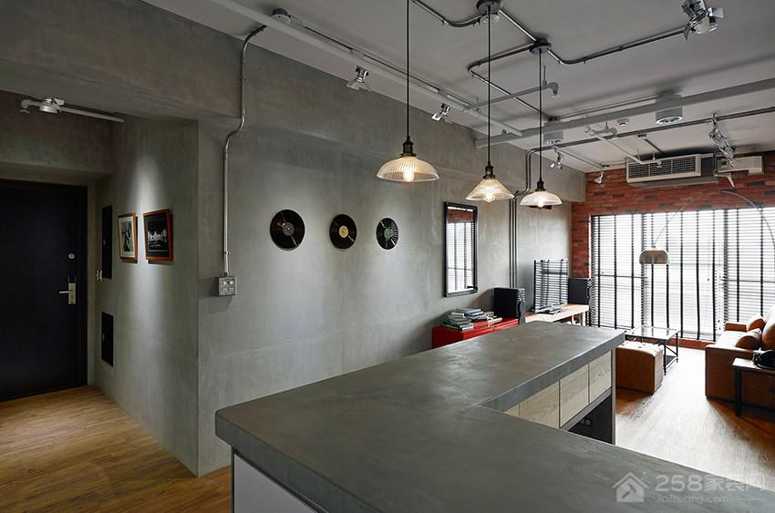 高雄28 坪小夫妻的工业风公寓装修效果图