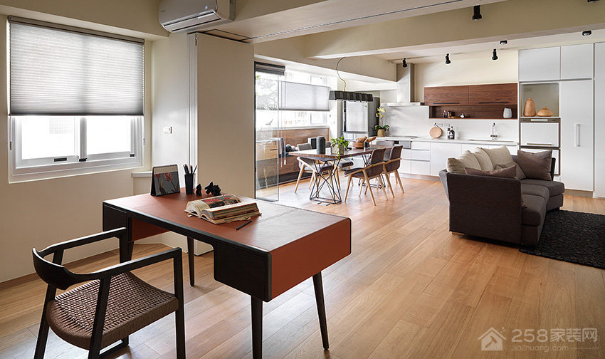 台北35坪温暖日光公寓装修效果图