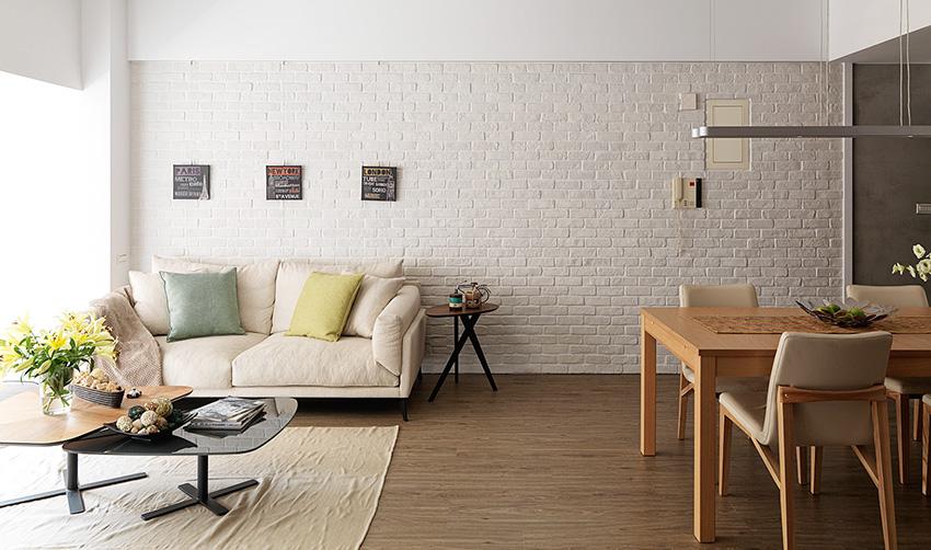 新店21 坪黑灰白北欧风老公寓装修效果图