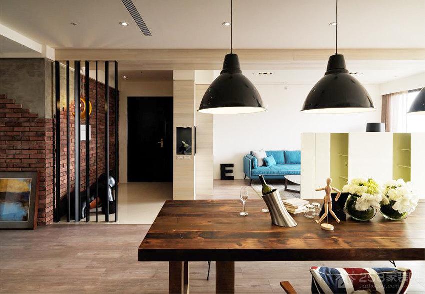 现代流行客厅黑色铁艺吊灯效果图
