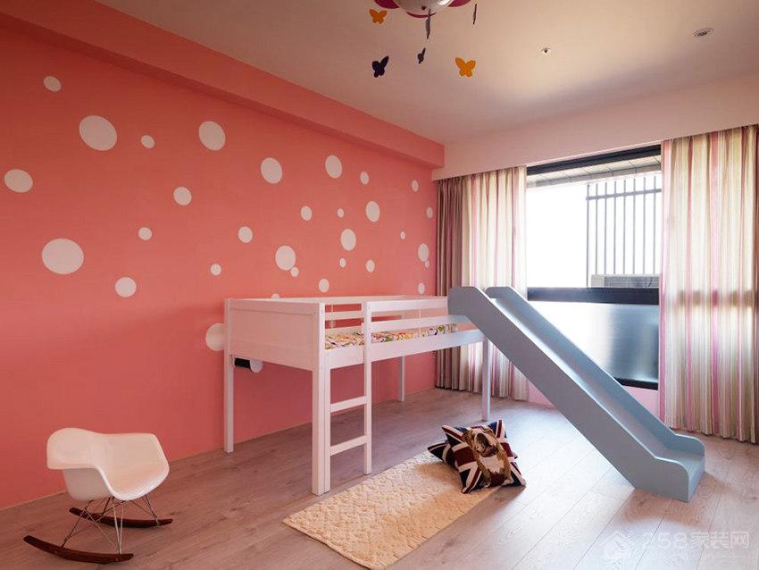 儿童房白色实木床效果图