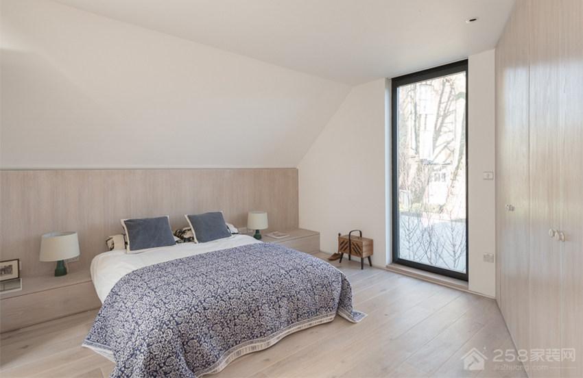现代简约卧室双人床展示图