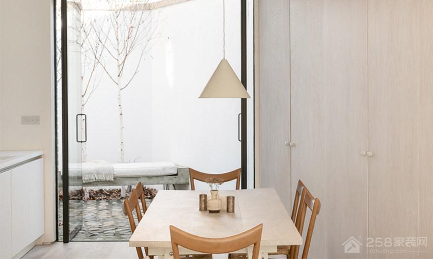 现代时尚餐厅白色简约铁艺吊灯效果图