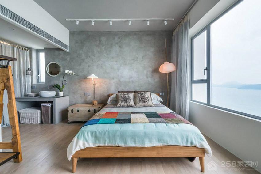 自然风公寓卧室双人床效果图
