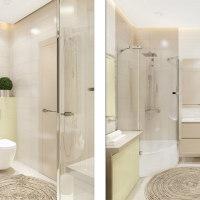 清新现代风公寓卫生间原木色浴室柜图片