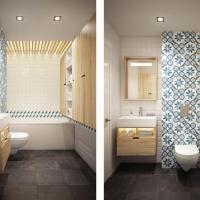 现代北欧风卫生间原木色浴室柜图片