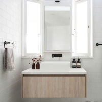 时尚百搭小体积实木浴室柜效果图