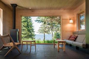 美国湖区现代木质感窗景之家装修效果图