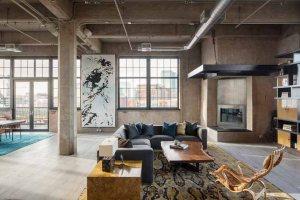 芝加哥工业风开放式住宅装修效果图
