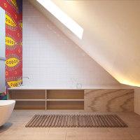 现代简约斜顶阁楼浴室装修效果图