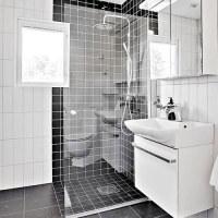 北欧风格卫生间白色石材浴室柜图片