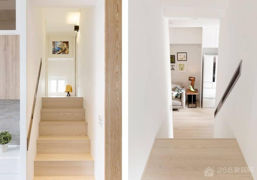 时尚北欧风公寓过道木材质楼梯图片