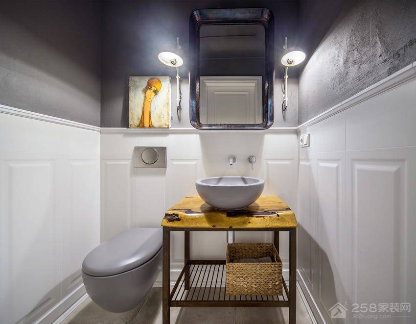 乌克兰48 坪美式复古风居家装修效果图