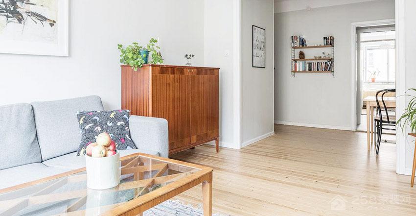 北欧风格客厅方形茶几图片