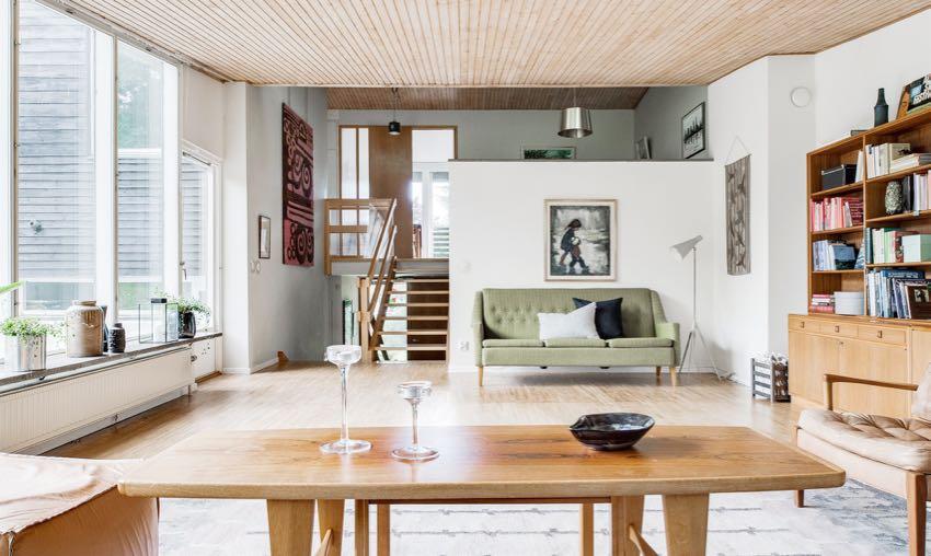 瑞典50 坪复古北欧风错层住宅装修效果图