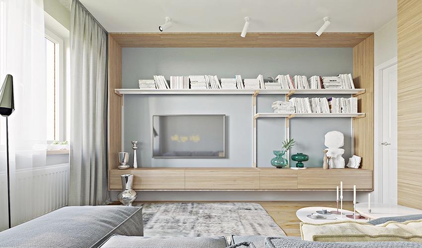 乌克兰18 坪现代清新好感公寓装修效果图