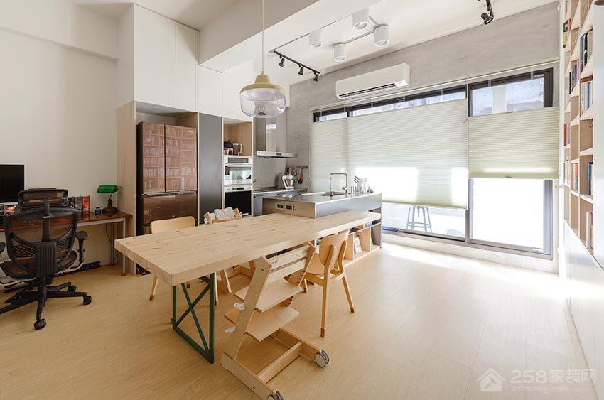 餐厅实木长餐厅效果图