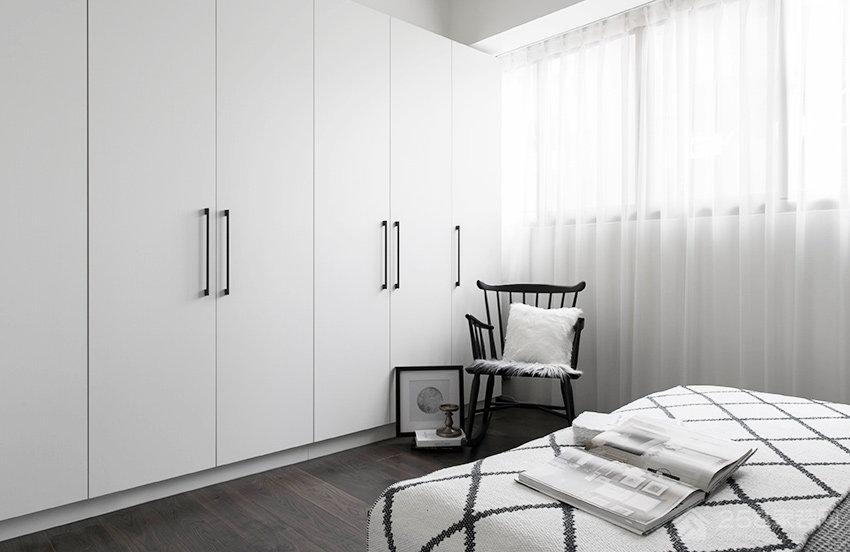 北欧风格卧室平开门衣柜图片