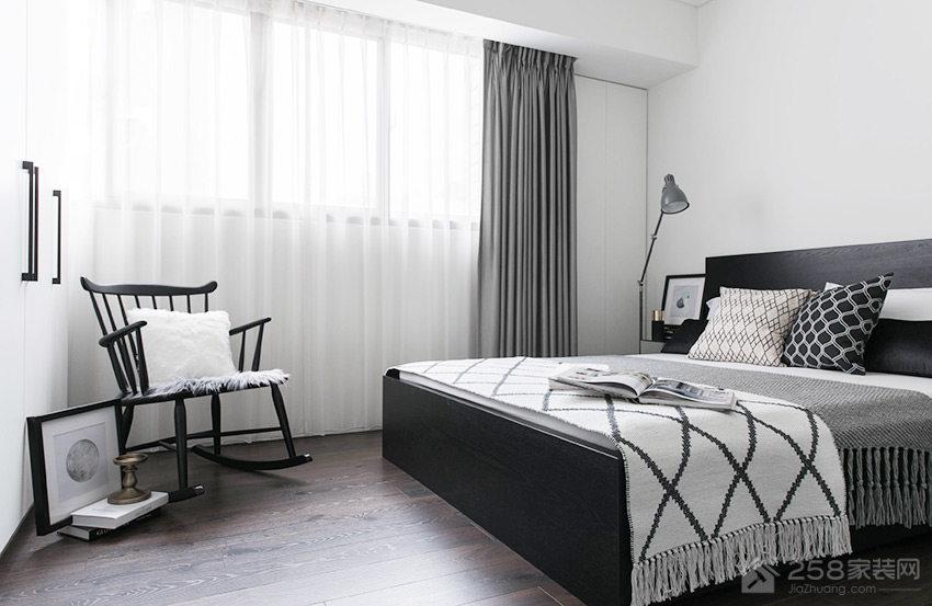 卧室欧式布艺窗帘效果图