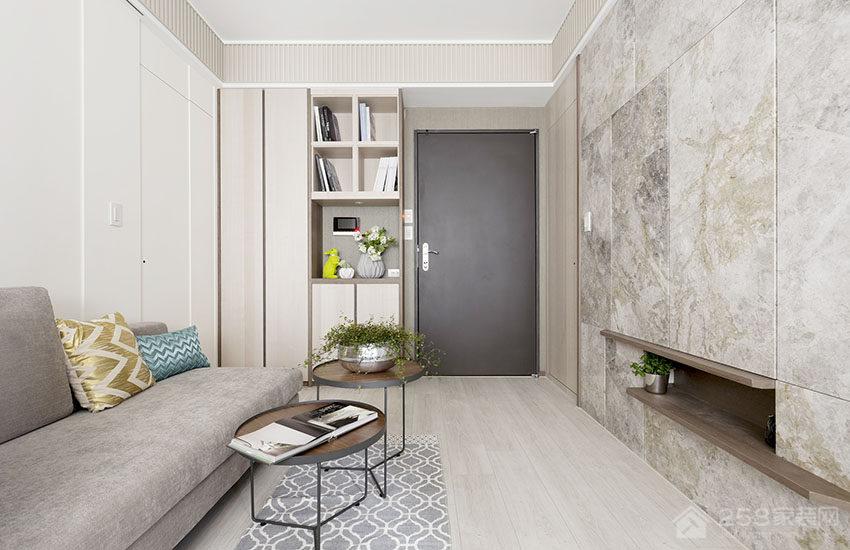 客厅欧式布艺灰色沙发图片