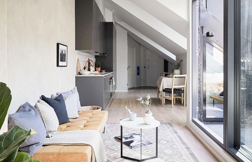 瑞典11坪简约暖意公寓装修效果图