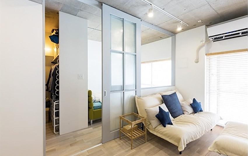 狭长老屋改造日本19 坪简约风三口之家装修效果图