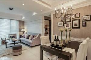 90平美式风格华丽挑战,梦幻豪宅创意家居
