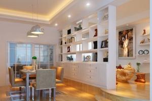 长方形客厅如何装修布置?餐厅与客厅隔断设计