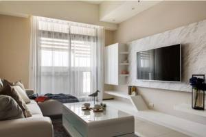 100平美式风格装修设计,可移动式家居装饰