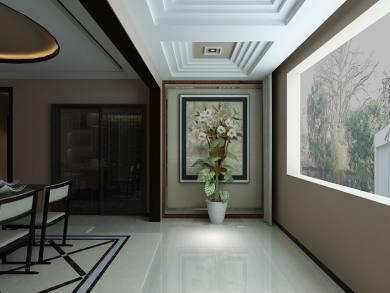 保利枫丹富力现代简约风格三居装修效果图