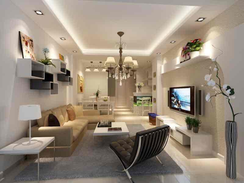泗港小区现代简约风格二居装修效果图