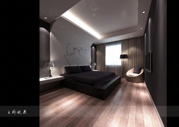 珠江新城现代简约风格三居装修效果图